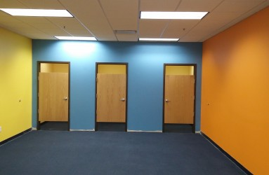 Changing rooms, ready for customers!