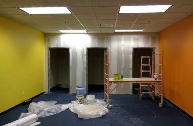 Changing room construction