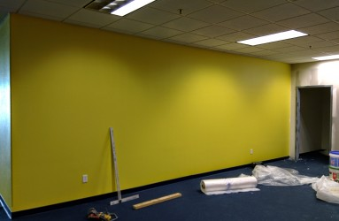 Remodeling our new Superior location, one wall at a time.